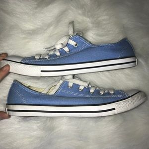 a8aed80b4ddd Converse Shoes - 💙Light Blue Dainty Converse Size 8 low top